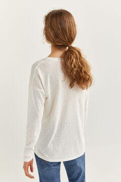 Springfield T-shirt bi-matière graphique blanc
