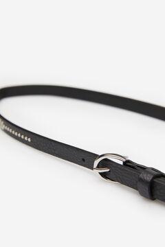 Springfield Silver studs belt black