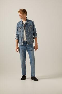 Springfield Medium wash distressed jeans blue