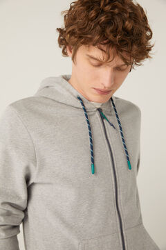 Springfield Essential zip-up sweatshirt gray