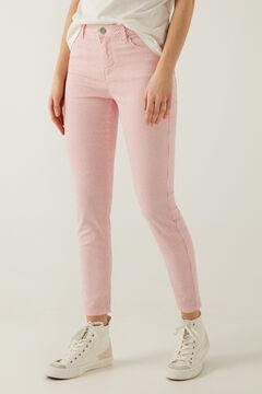 Springfield Pantalon slim cropped rayures rouge