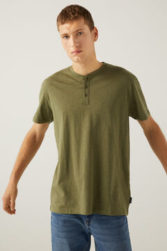 Springfield Henley-neck t-shirt grey