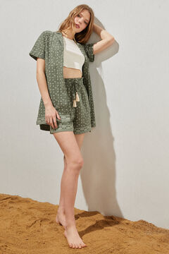 Springfield Paisley organic cotton and linen Bermuda shorts  grey
