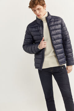 Springfield Water-repellent padded jacket navy