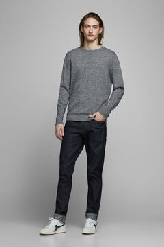 Springfield Crew neck knitted jumper grey