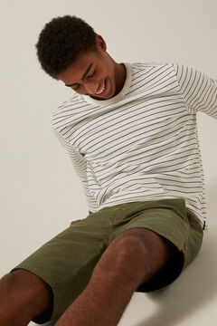 Springfield Long-sleeved striped T-shirt ecru