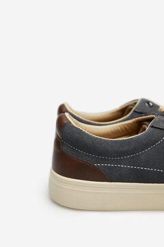 Springfield Sneaker, kombiniert, aus Rauleder grau