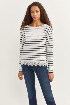 Springfield Crochet T-shirt natural