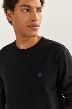 Springfield ESSENTIAL LONG-SLEEVED T-SHIRT black