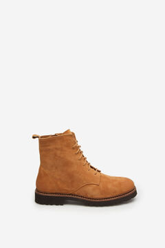 Springfield Suede leather lace-up boot camel