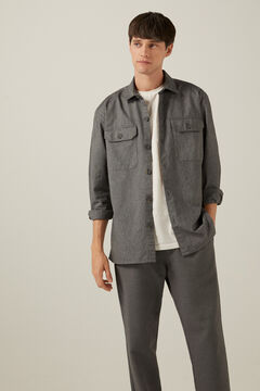 Springfield Oxford overshirt grey