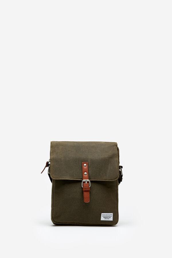 ea42bb6972 Springfield Medium waxed canvas bag green