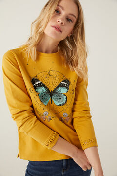 Springfield Sweat-shirt papillon détails crochet couleur