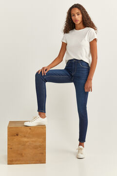 Springfield High Rise Skinny Jeans blue