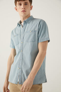 Springfield Denim shirt bluish