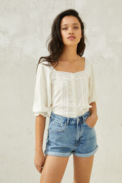 Springfield Smocked printed top white