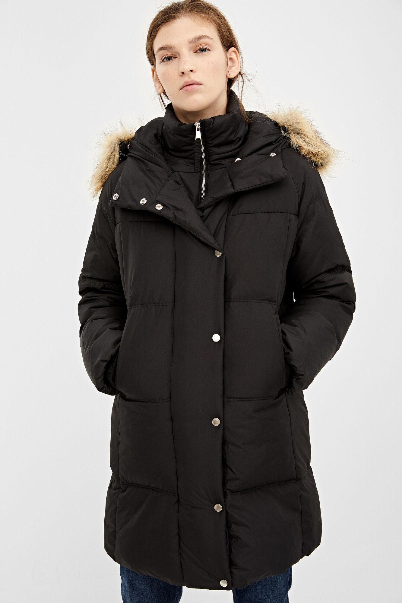 Abrigo plumífero capucha pelo | Chaquetas | Springfield