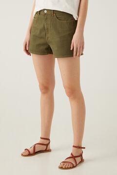 Springfield Short jean vintage confort vert