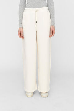 Springfield Pantalón Jogger ancho blanco