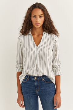 Springfield Striped Blouse blue