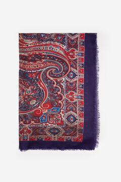 Springfield Jacquard bandana scarf petrol