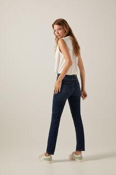 Springfield Jeans straight algodón reciclado lavado sostenible azul