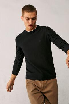 Springfield T-shirt manches longues piqué noir