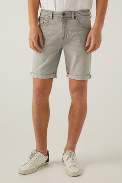 Springfield Grey slim denim Bermuda shorts grey