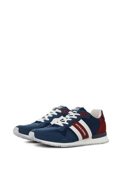 Springfield Faux leather urban sneakers bluish