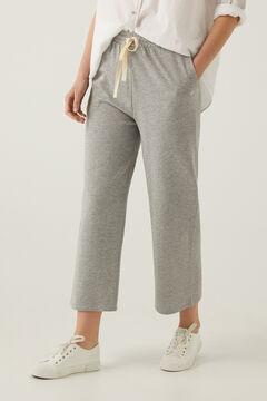 Springfield Pantalón culotte felpa algodón orgánico gris