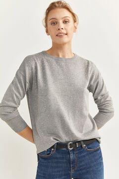 Springfield Pearls Jumper  gray