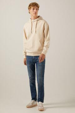 Springfield Medium-dark wash distressed skinny jeans violet