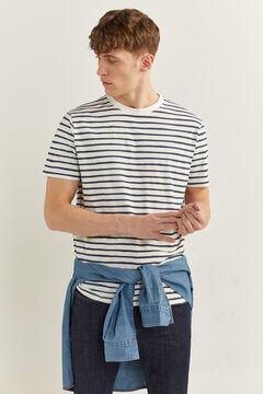 Springfield Linen cotton layered jumper bluish