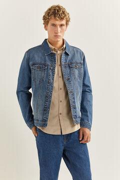 Springfield Blouson en jean foncé bleuté