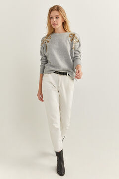Springfield Sequin Ties Jumper grey