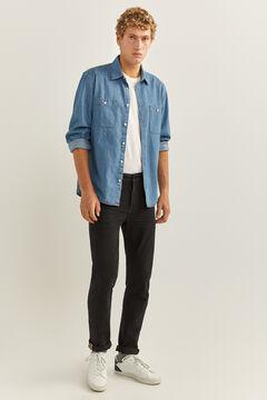 Springfield Jeans slim negros bi- stretch negro