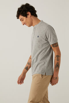 Springfield Slim Mao printed polo grey