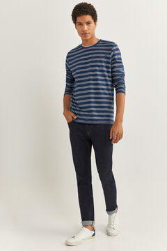 Springfield LONG-SLEEVED STRIPED T-SHIRT bluish