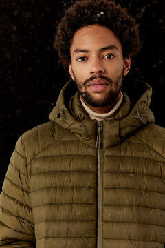 Springfield QUILTED HOODED JACKET dark gray