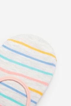 Springfield Calcetín invisible rayas multicolor marrón