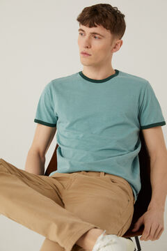 Springfield Contrasting t-shirt green