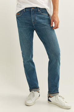Springfield MEDIUM GREEN WASH SLIM FIT JEANS blue