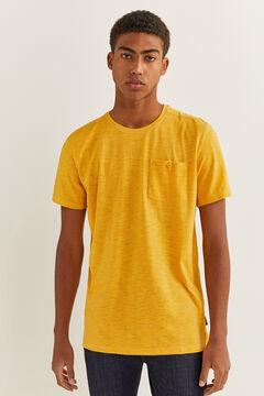 Springfield T-shirt textura bolso camelo