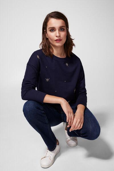 Springfield - Jewel appliqué sweatshirt - 1