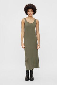 Springfield Long dress green