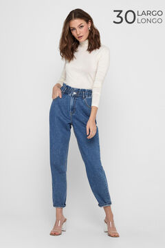 Springfield Mom fit flounced jeans bluish