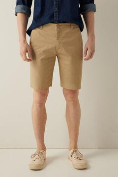 Springfield Comfort stretch Bermuda shorts camel