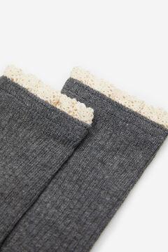 Springfield Calcetín canalé lace gris