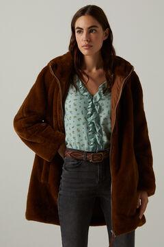 Springfield Fur hood coat tan