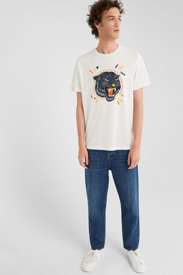 ecee26cf5 Springfield Camiseta manga corta pantera made in africa crudo